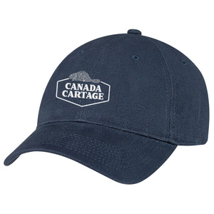 Heavyweight Brushed Cotton Drill Cap - Navy