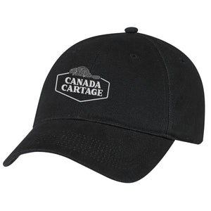 Heavyweight Brushed Cotton Drill Cap - Black