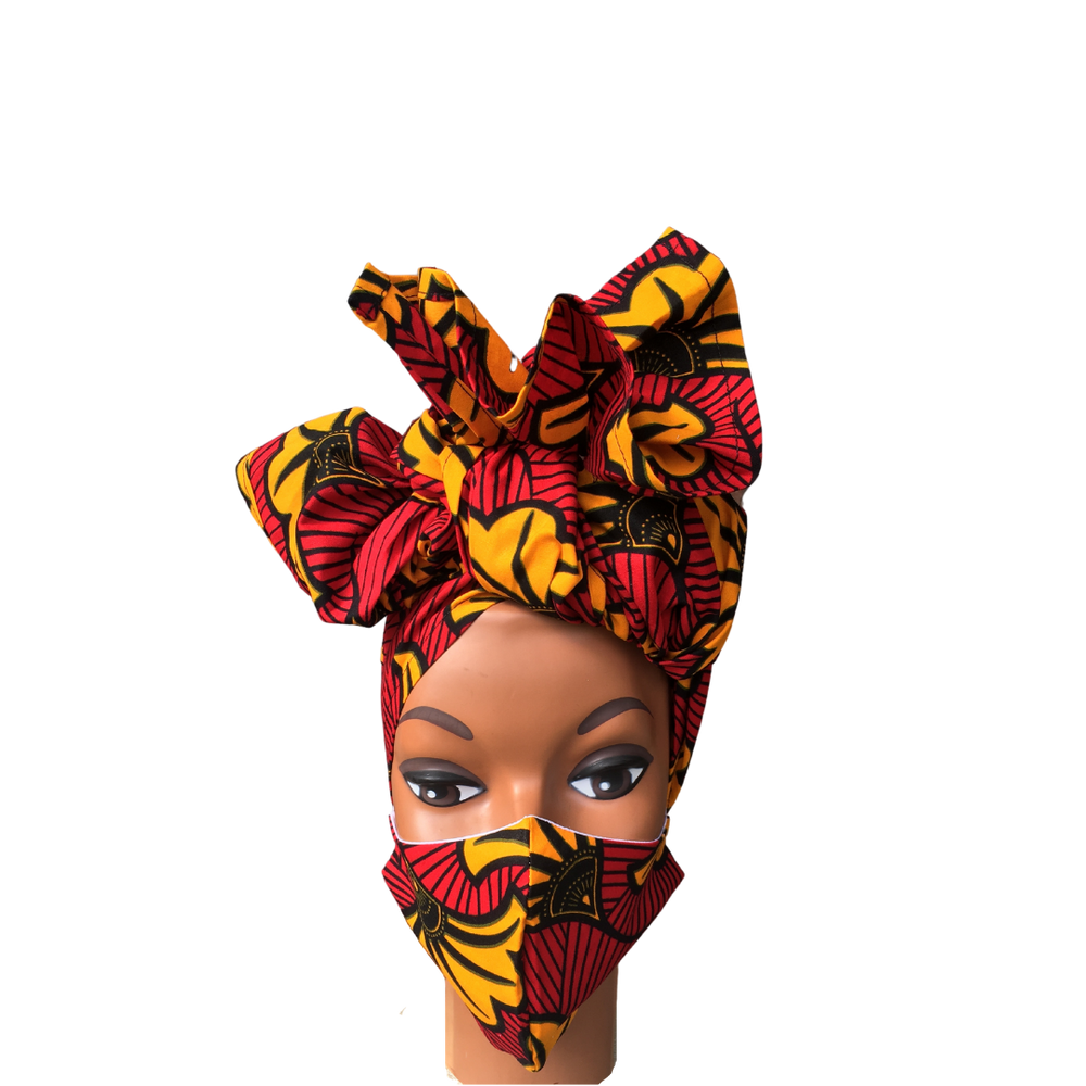 Load image into Gallery viewer, Regal Wrap & Mask Set- Only Fans - Regal Roots Hair & Beauty Boutique