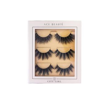 Load image into Gallery viewer, Ace Beaute CITY GIRL EYELASH TRIO - Regal Roots Hair & Beauty Boutique