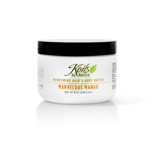 KOILS by Nature NOURISHING HAIR AND BODY BUTTER MARVELOUS MANGO 8oz