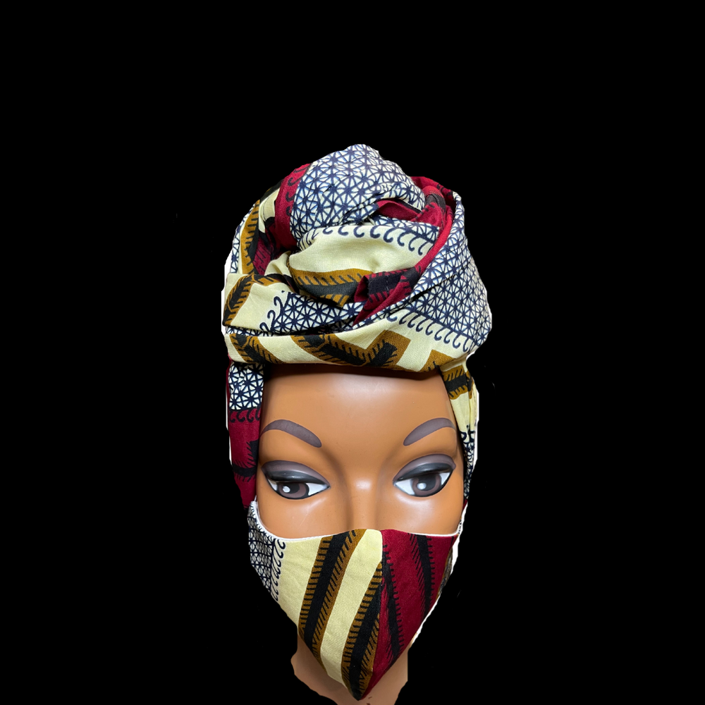 Regal Wrap & Mask Set- Jazzmin - Regal Roots Hair & Beauty Boutique