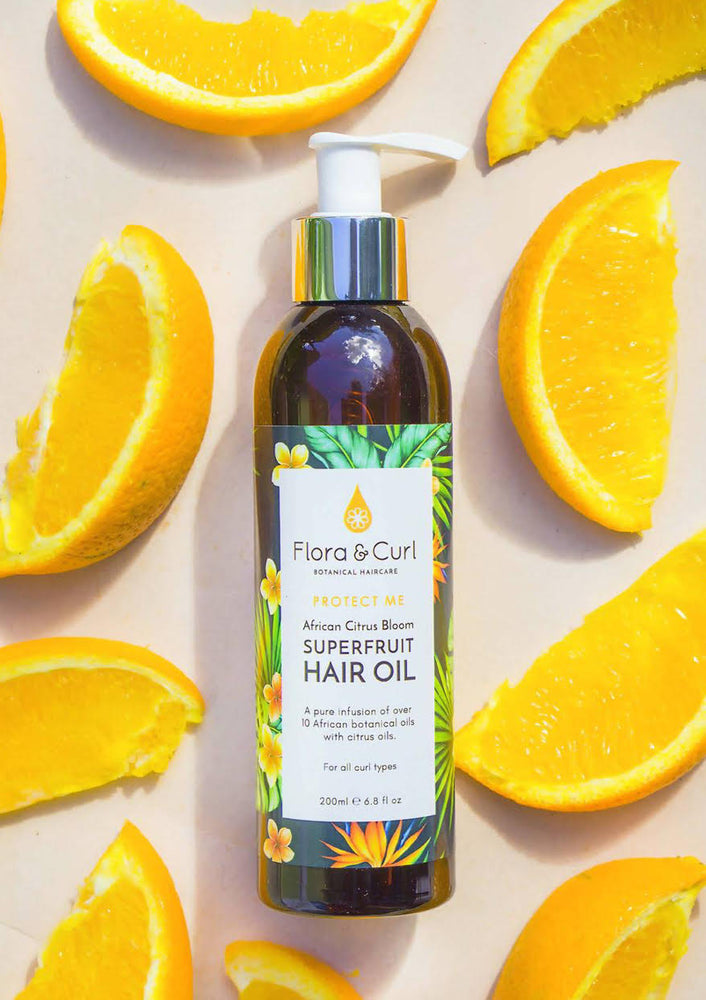Load image into Gallery viewer, Flora & Curl African Citrus Superfruit Hair Oil 6.8 oz - Regal Roots Hair & Beauty Boutique