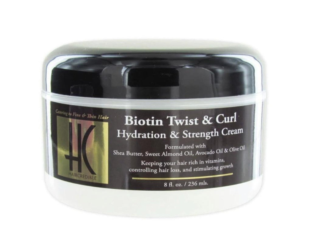 Haircredible Biotin Twist and Curl Hydration & Strength Cream 8oz - Regal Roots Hair & Beauty Boutique