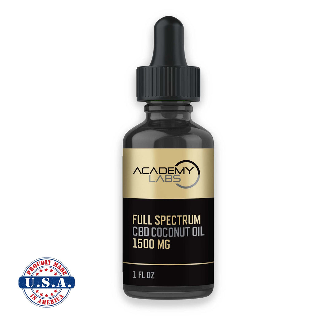 CBD with MCT Oil  (Full Spectrum CBD Coconut Oil, 1500mg)