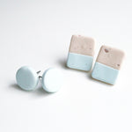 Load image into Gallery viewer, Stud pack • Oat milk and pale blue • pack of 2