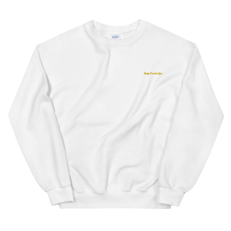Honey Drenched Eyes Embroidered Sweatshirt