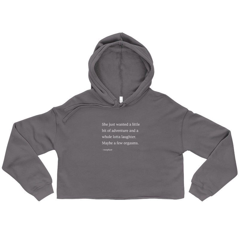 Whole Lotta Laughter Crop Hoodie