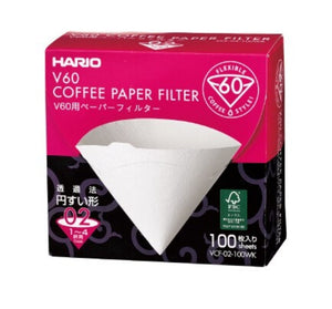 HARIO VCF-02-100WK V60 Paper Filter 02 W 100 sheets (Box)
