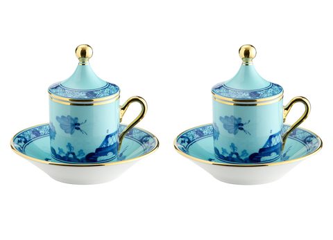 Espresso set for two Oriente Italiano Iris