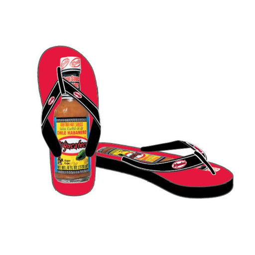 El Yucateco Flip Flops - Black & Red