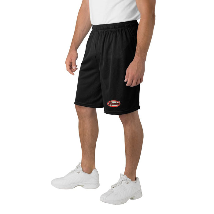 El Yucateco Mens Embroidered Basketball Mesh Shorts