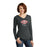 Ladies El Yucateco Black Frost King Of Flavor Long Sleeve T Shirt With Hood