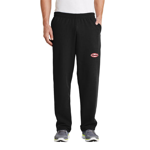 Embroidered Fleece Sweat Pants