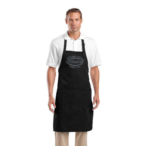 Novelty Aprons for Adults - black El Yucateco Hot Sauce Apron for grilling and cooking - great gift for men and women