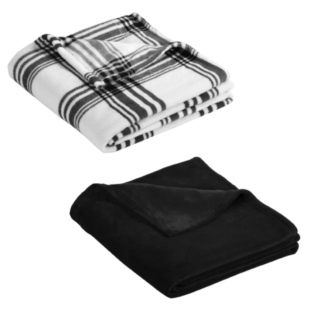 Grey and Plaid Throw Blankets by El Yucateco Hot Sauce
