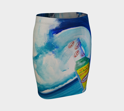 El Yucateco Ride the Wave - Pencil Skirt