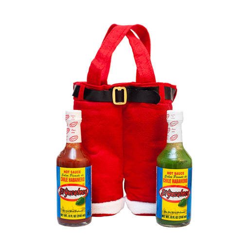 Santa's Pants Gift Set, 8 oz Red and Green Habanero Sauces