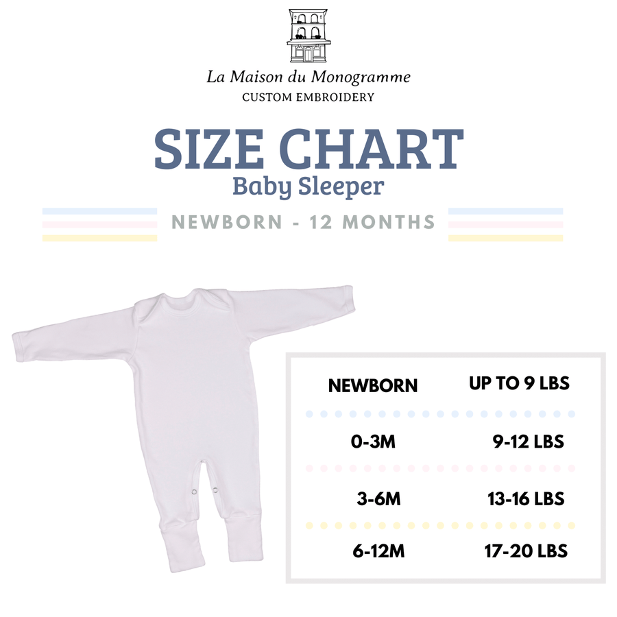 La Maison du Monogramme Embroidered Baby Boy Take Home Outfit Sky Blue and Light Grey