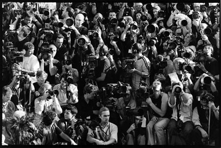 Photographers before the Louis Vuitton Show