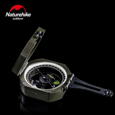 Naturehike Outdoor Camping Compass Geological Survey High Precision Fluorescent Portable Multifunction Military Compass (As Picture)
