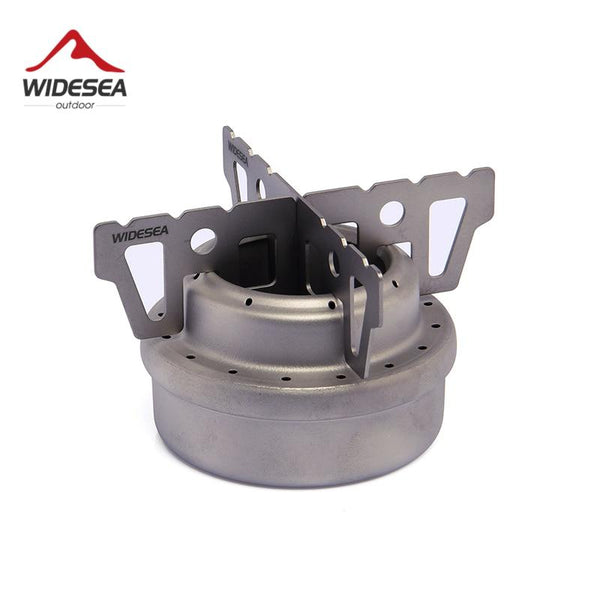 Widesea Titanium Camping Alcohol Stove Outdoor Liquid Spirit Burner Rack Combo set Cross stand