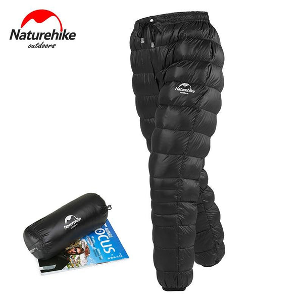 Naturehike Unisex Down Pants Outdoor Climbing Waterproof Warm Pants Camping Goose Down Trousers