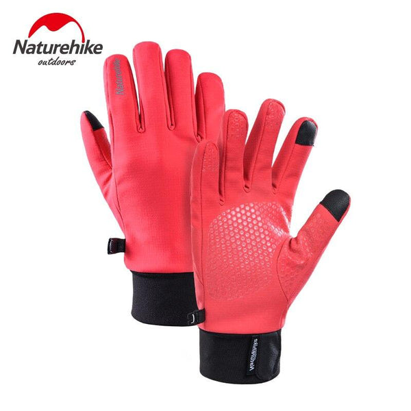 Naturehike 2019 New Winter Outdoor Plus Velvet Warm Gloves Splash-proof Touch Screen Running Riding Windproof Sports Gloves