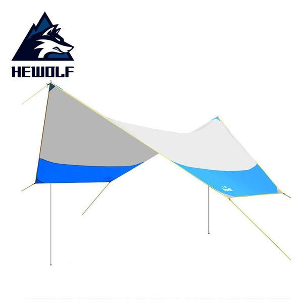 Hewolf Outdoor Ultralight 210T Tent Beach Camping Pergola Sunshelter Oversized Rainproof Awning