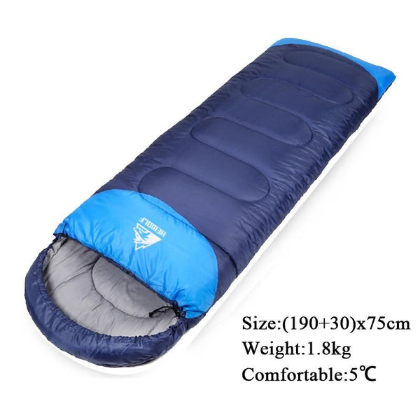 Hewolf Camping Sleeping Bag Cotton Adult  Envelope Splicable Backpacking Sleeping Bag For Outdoor Traveling Hiking