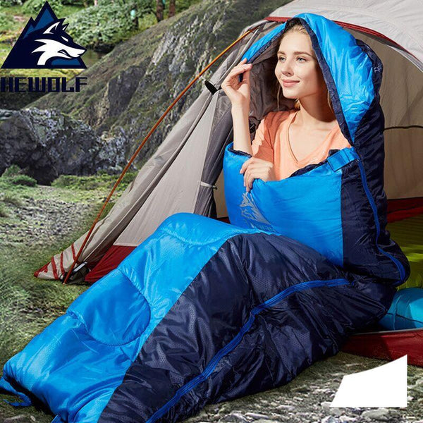 Hewolf Camping Sleeping Bag Lightweight Thermal Adult Winter Envelope Backpacking Sleeping Bag for Outdoor Traveling Hiking