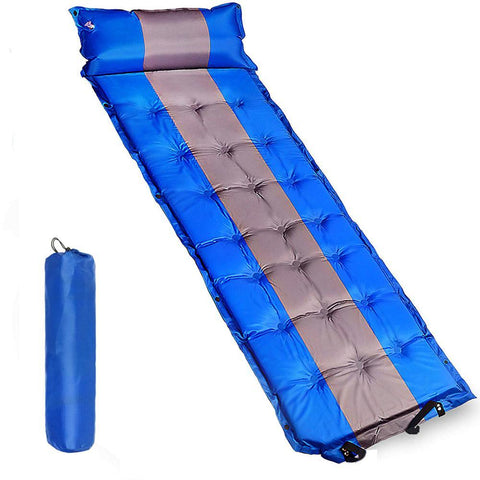 Desert&Fox Self Inflating Sleeping Mattress Lightweight Sleeping Air Pad Waterproof Camping Mat with Air Pillow 183*62*4.5cm