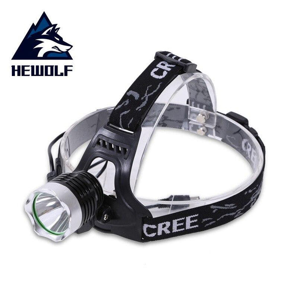 Hewolf Rechargeable LED headlamp Waterproof LED headlight LED Rotary zoom 3 modes head lamp Built-in lithium battery