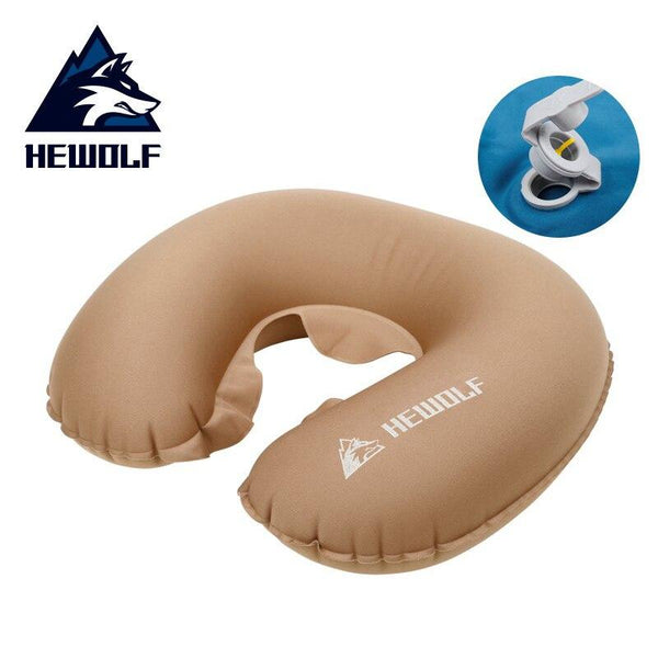 Hewolf Travel Pillow Inflatable Neck Car Head Rest Air Cushion for Travel Office Nap Head Rest Air Cushion Neck Pillow