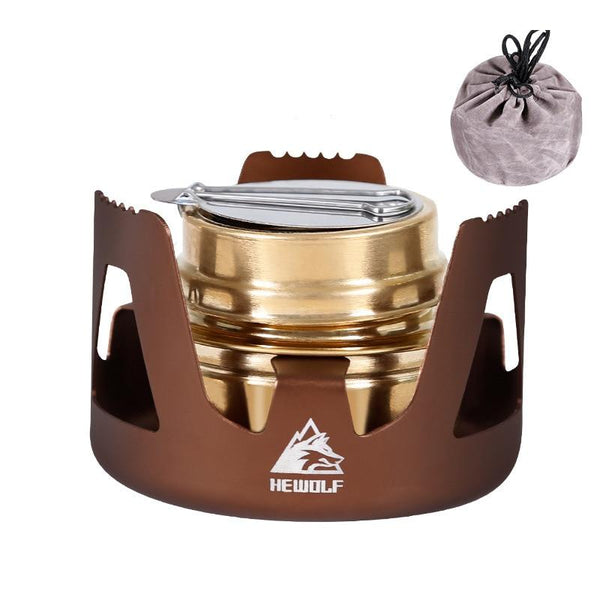 Outdoor Picnic Stove Mini Ultra-light Combustor Practial Stove Camping Furnace Portable Alcohol Lamp