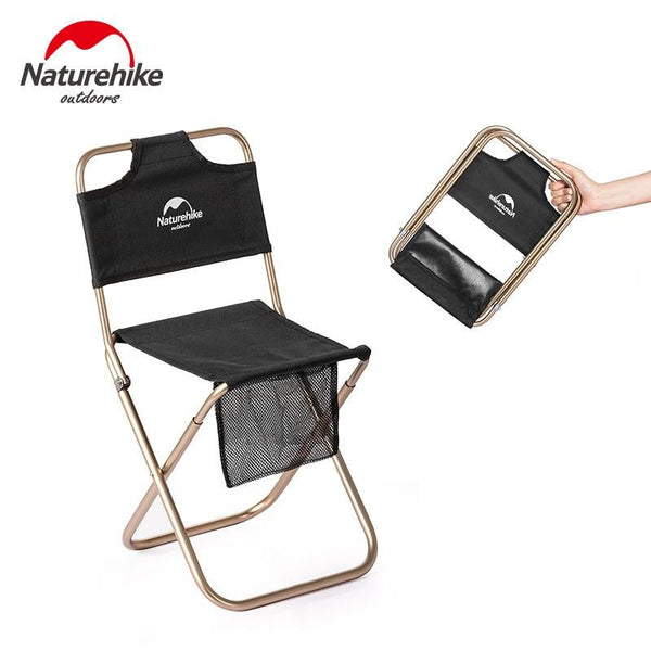 Naturehike 2019 New Arrive 420g Outdoor Portable Folding Chair Picnic Camping Wear-resistant Aluminum Back Fishing Chair