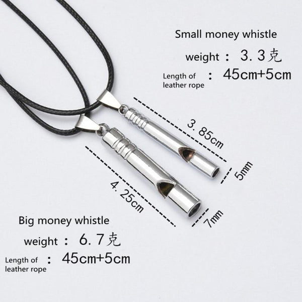 Titanium Emergency Whistle Loud Portable Keychain Necklace Whistle EDC Keyring for Emergency Survival Outdoor Hiking Camping
