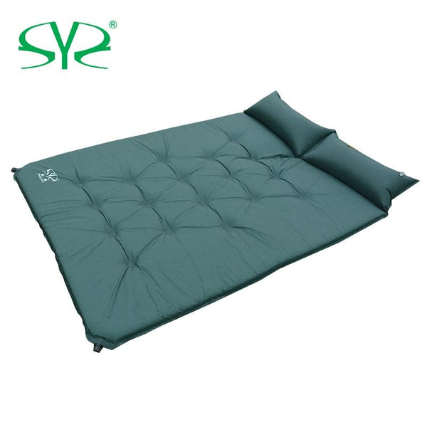 spliced outdoor thick 5cm automatic inflatable cushion pad outdoor tent camping mats bed mattress outdoor tent lunch dew
