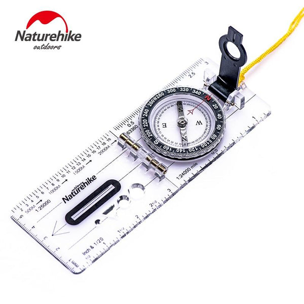 Naturehike Irrigation Dial Directional Foldable Compass Transparent Ultralight Portable Hiking Camping Outdoor High Precision