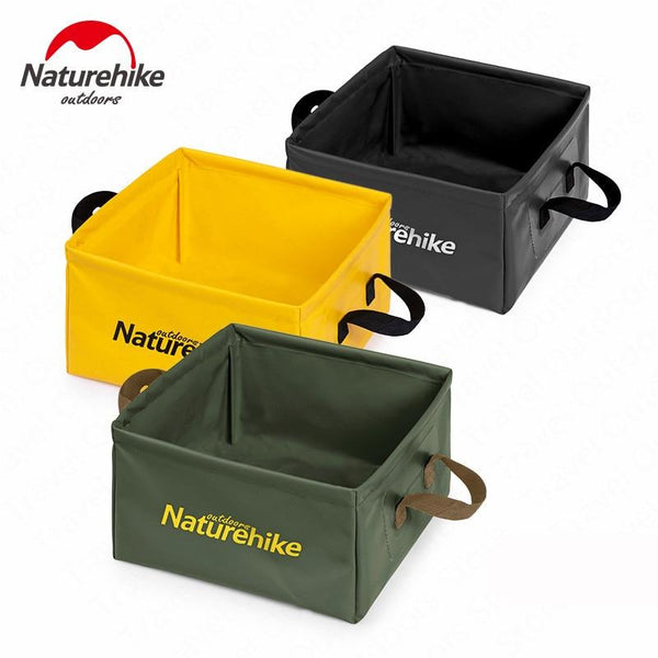 Naturehike Outdoor Folding 13L Water Bucket Portable Square Storage Barrel Travel Storage Box Durable Camping Bucket