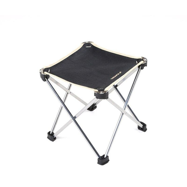 Portable Travel Ultralight Folding Chair Outdoor Camping  Aluminum alloy  Beach Hiking Picnic Seat Fishing Tools Chair (Black)