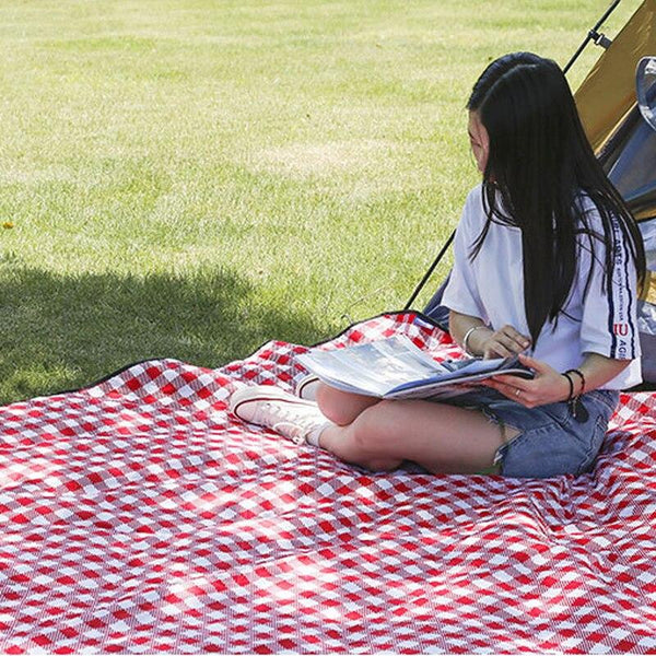 2mx2m Waterproof Folding Picnic Mat Outdoor Camping Beach Moisture-proof Blanket Portable Camping Mat Hiking Machine Washable