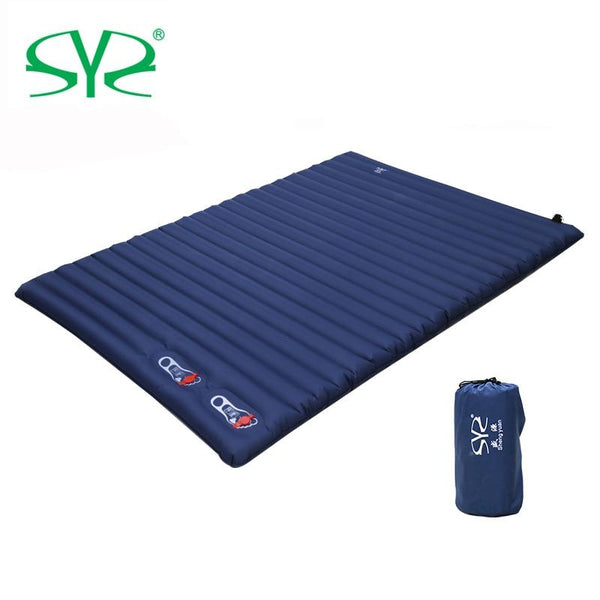 2-3 Person Outdoor cushion Camping Inflatable Sleeping Pad Ultralight Press Type Air Mattress TPU Waterproof Tent Mat