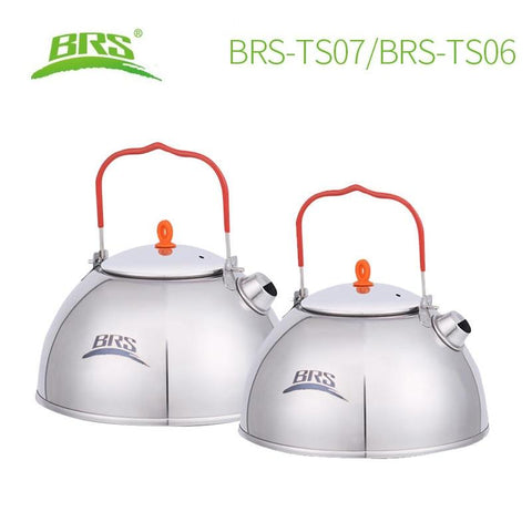 BRS 0.6/1.1L outdoor camping fishing stainless steel water kettle teapot coffee pot hiking Picnic tea pot kettle with tea filter