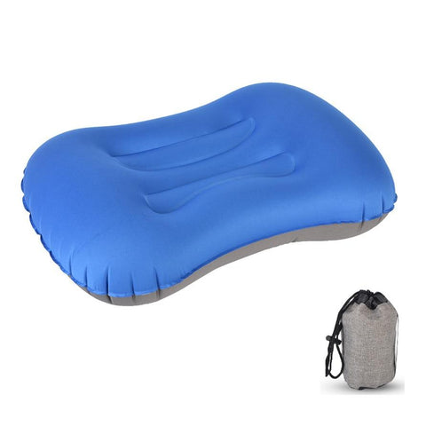 Desert&Fox Inflatable Pillow Travel Pillow, Portable Lightweight Compact Pillow Cushion with Sack for Camping, Hiking, Traveling