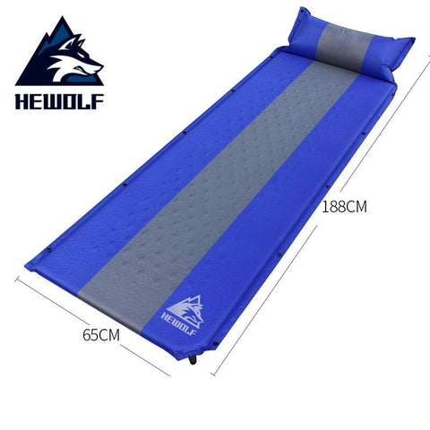 HEWOLF Thick 3CM Self-Inflating Camping Airbed Sleeping Pad Outdoor Mat Splicing Moistureproof Automatic Inflatable Air Mattress