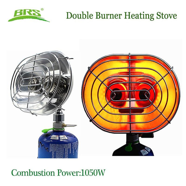 Double Burner Heating Stove Infrared Ray Heater Gas Heater Camping Warmer Heating Gas Stove For Winter Camping Outdoor Fishing