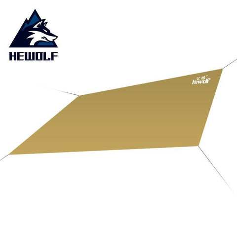 Hewolf Multifunction Beach Tent Tarp Outdoor Camping Picnic Mat 1 - 2 Person Sun Shelter Gazebo Awning Tent For Camping Fishing (Camel)