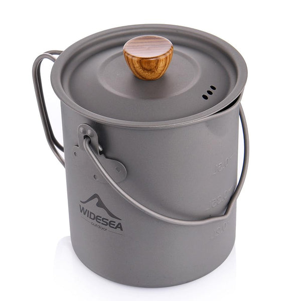 Widesea Titanium Camping 750ML Coffee Pot With French Press And Lid Fast Heat Outdoor Cup Mug Cookware For Tourism Hike Picnic