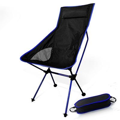 Outdoor Ultralight Folding Moon Chairs Portable Fishing Camping Chair Foldable Backrest Seat Garden Office Home Furniture